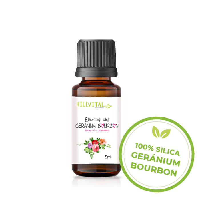 HillVital | Éterický olej Geránium Bourbon - 5 ml
