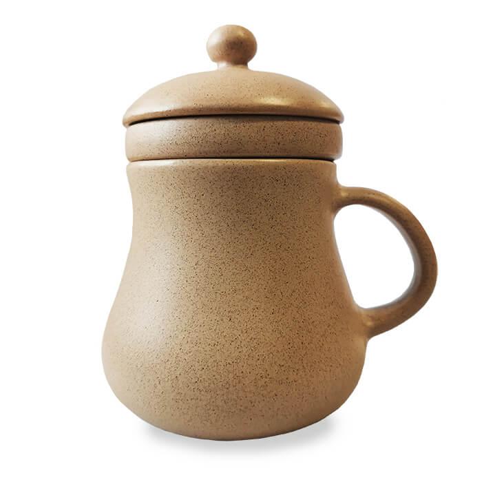 HillVital | Keramický hrnček na sypané čaje, 330 ml Farba: Hnedá
