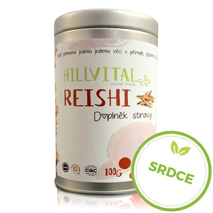 HillVital | Reishi - extrakt vzácnej huby v práškovej forme, 100g