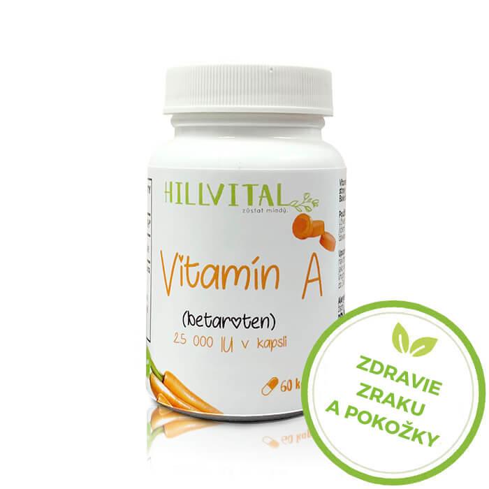 HillVital | Vitamín A - Betakarotén, 60 kapsúl