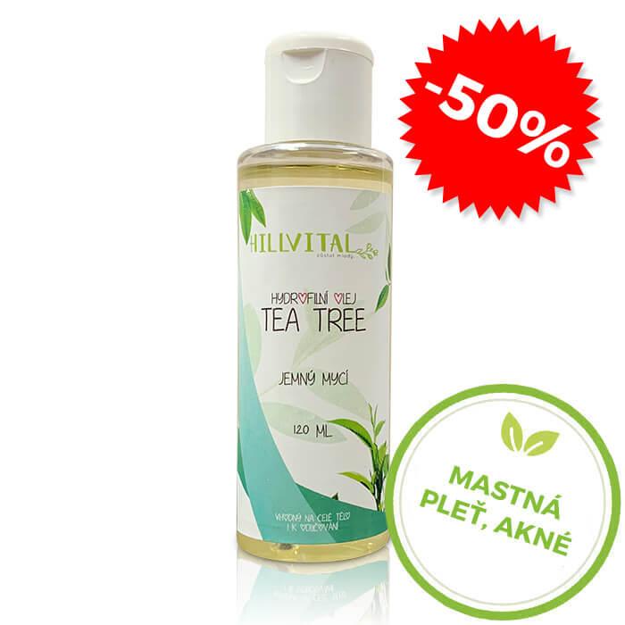 HillVital | Hydrofilný olej Tea Tree pre normálnu až mastnú pleť, 120 ml