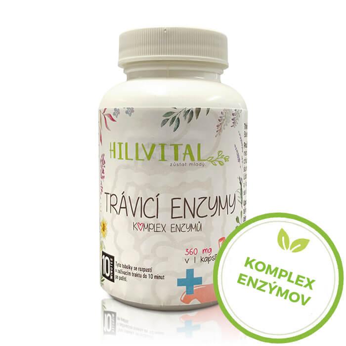 HillVital | Tráviace enzýmy - podpora trávenia 60 kapsúl