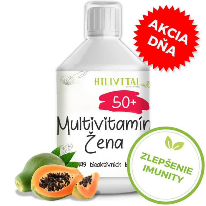 HillVital Multivitamín pre ženy 50+, 500ml - akcia dňa