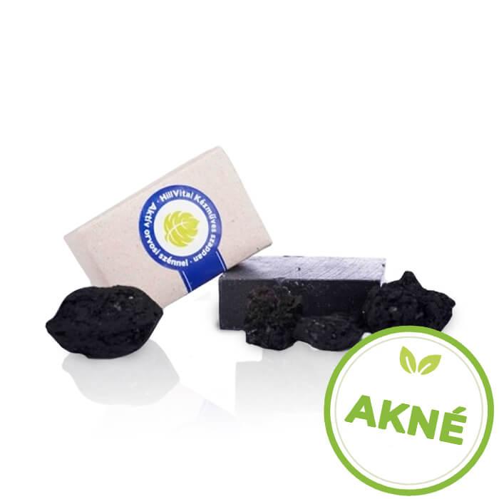 HillVital | Mydlo na akné s aktívnym lekárskym uhlím 95 g