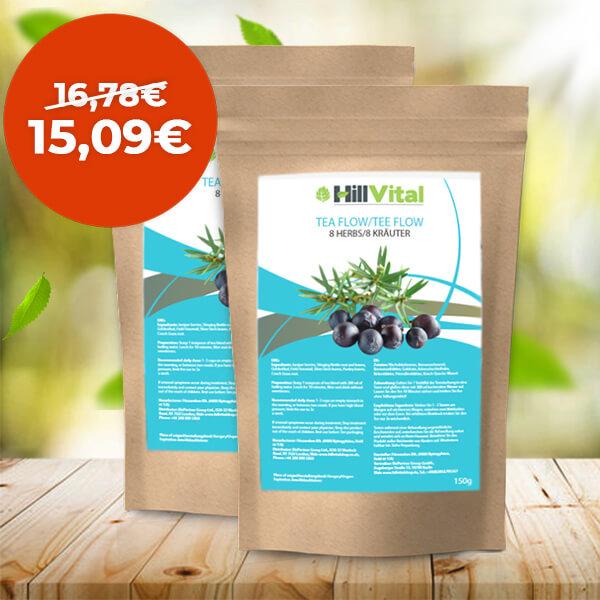 HillVital | Čaj na dnu a detoxikáciu - Dvojbalenie čaju Flow 300g