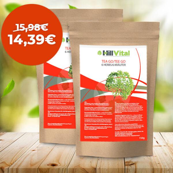 HillVital | Čaj na kĺby, reumu, artrózu - dvojbalenie čaju GO 300g
