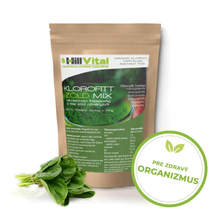 HillVital | Práškový nápoj KloroFitt 140g (14x10g)