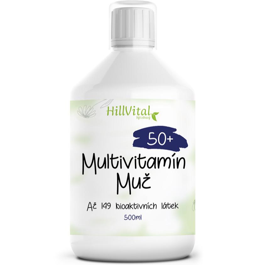 HillVital | Multivitamín pre mužov 50+, 500 ml