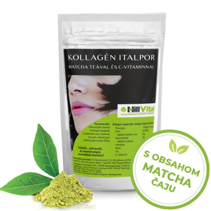 HillVital | Prášok z kolagénu s matcha čajom, 300g