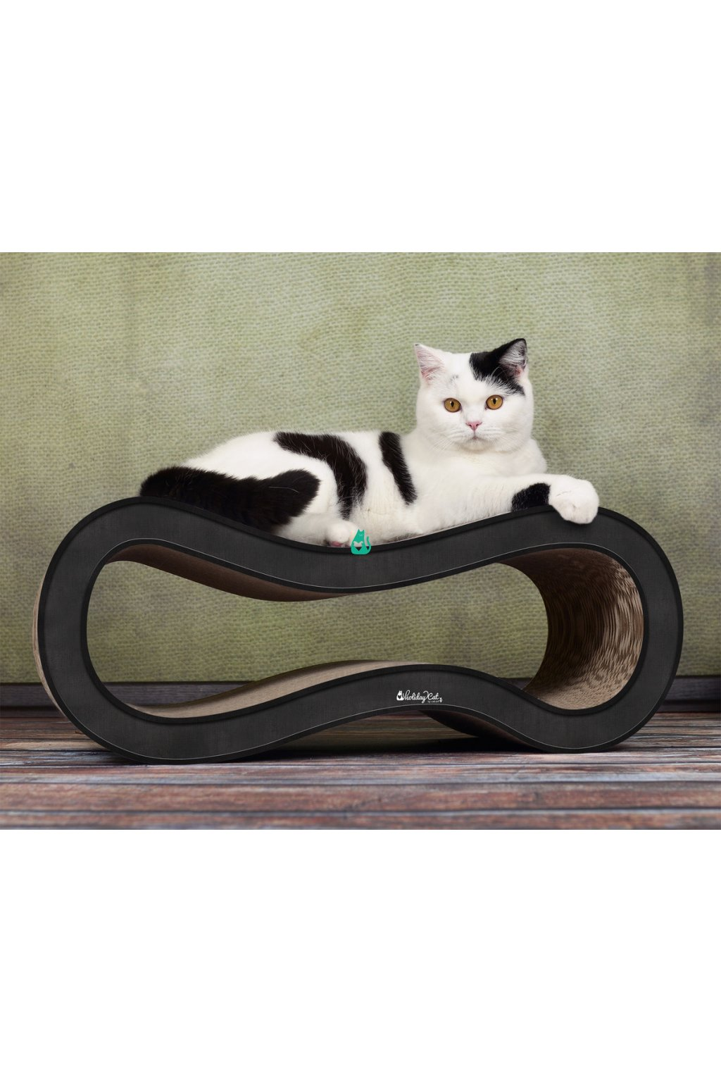 cat on singha m cat scratcher holidaycat black