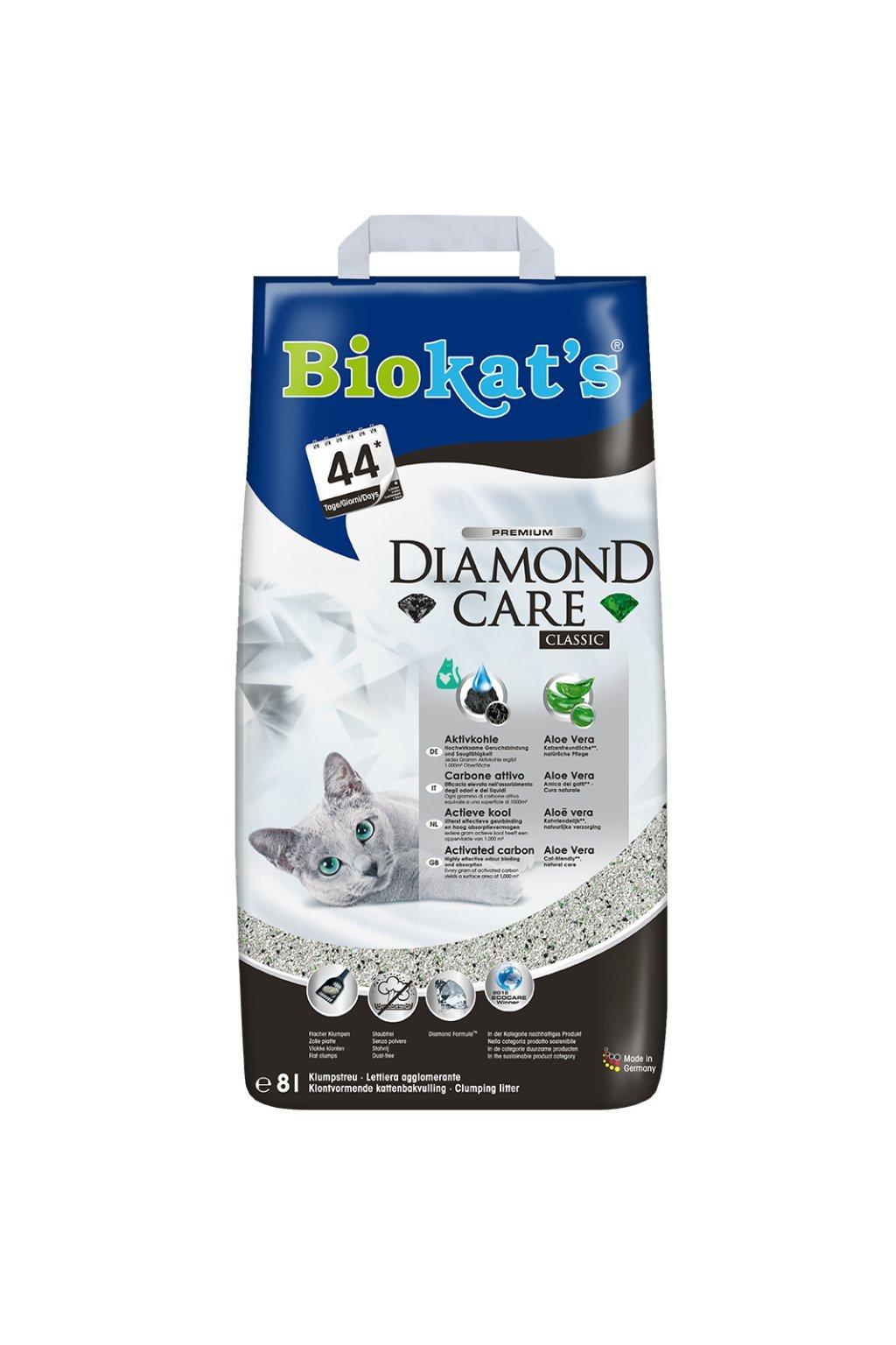 Podestýlka BIOKATS Diamond Classic 8l, jemné zrno