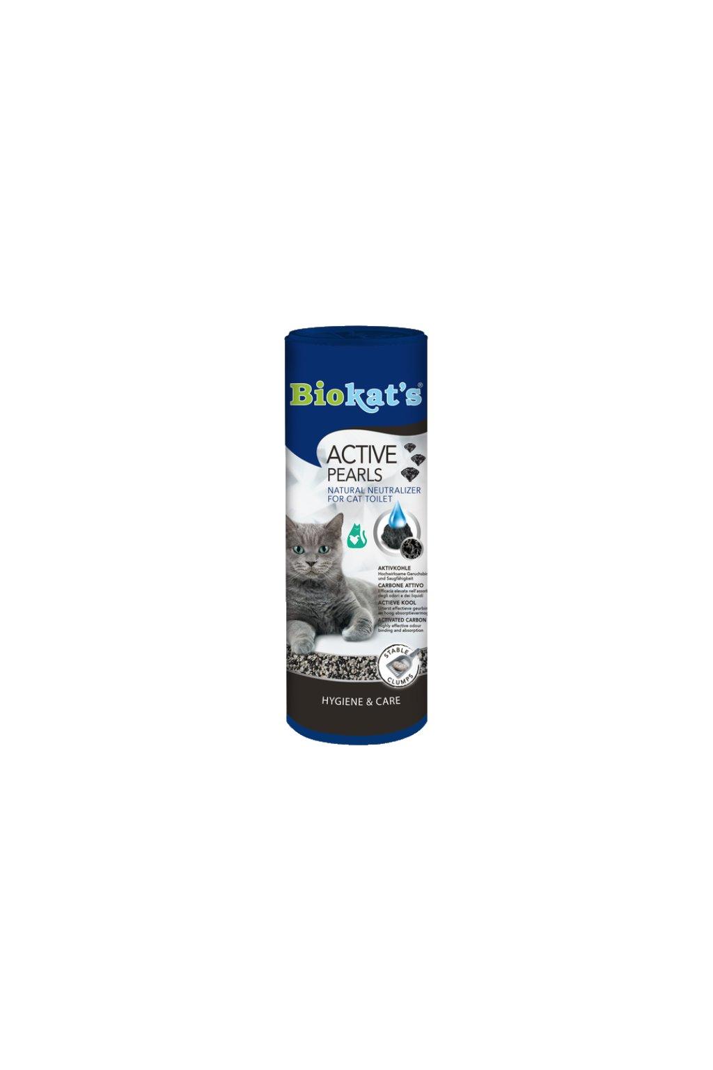 BIOKAT'S Active Pearls, aktivní uhlí - osvěžovač do kočičího WC 700g