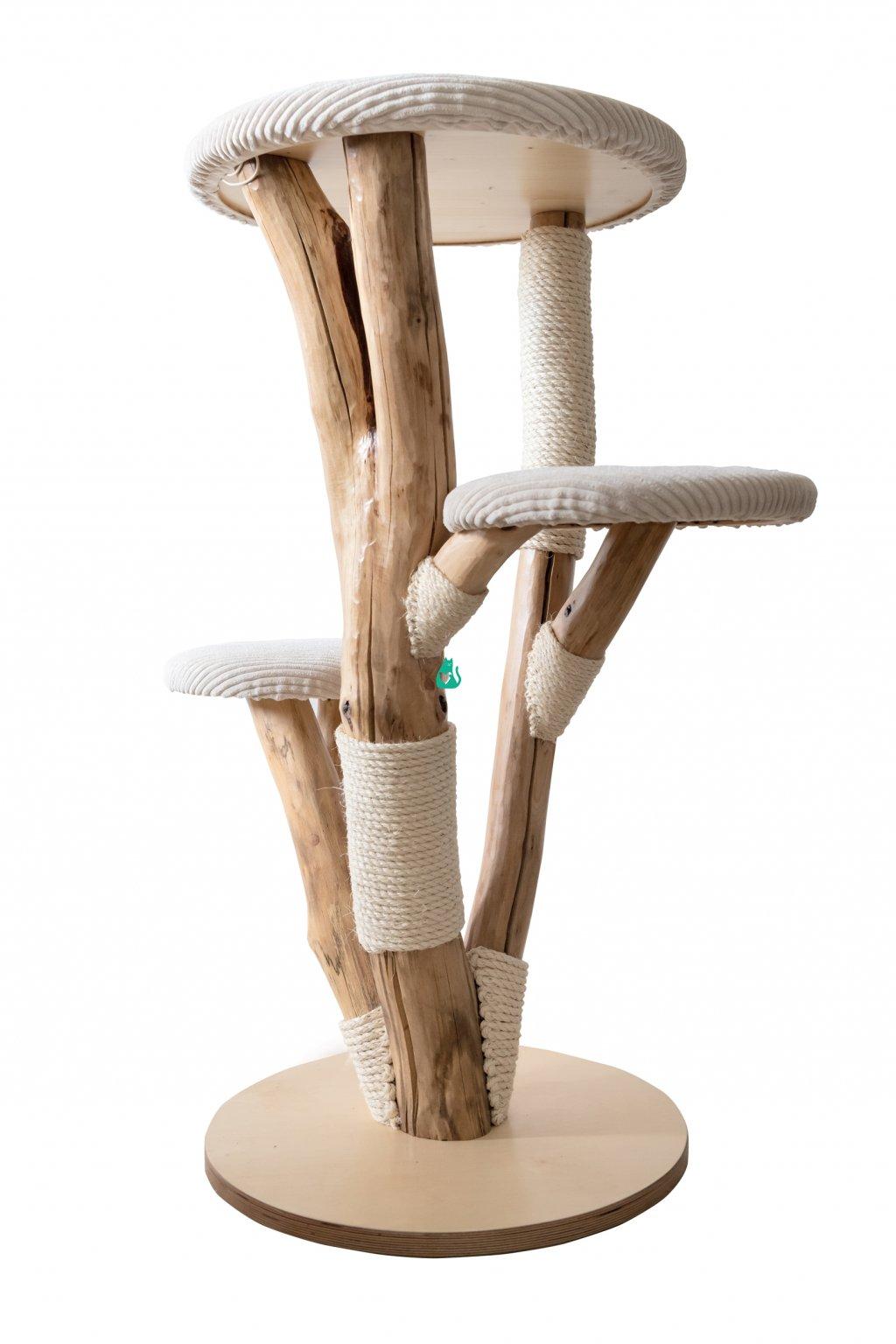 Kočičí strom Decent - ručně vyráběný,  malý - 120 cm