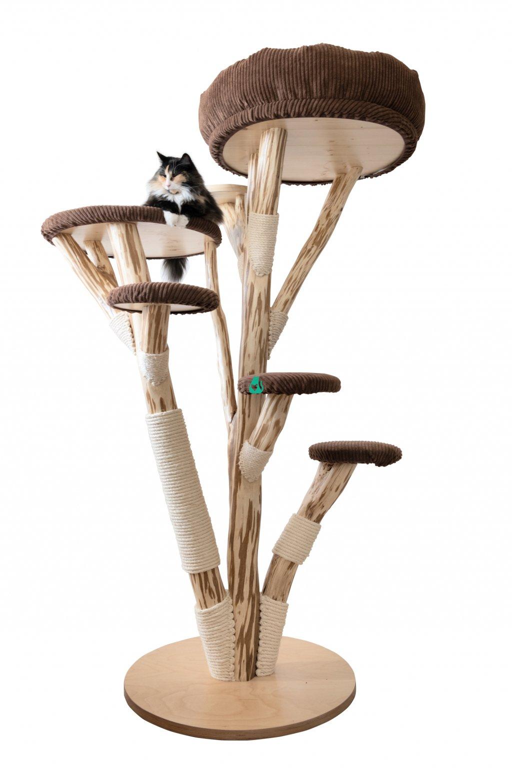 Kočičí strom Masiv - ručně vyráběný,  střední - 190 cm
