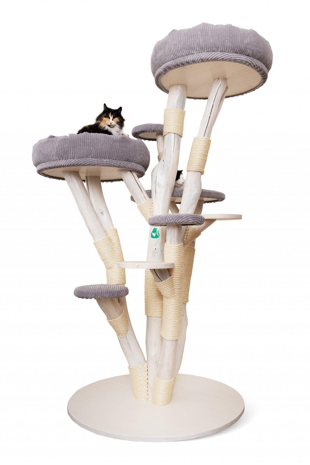 Kočičí strom Colossal - ručně vyráběný, velký - 210 cm