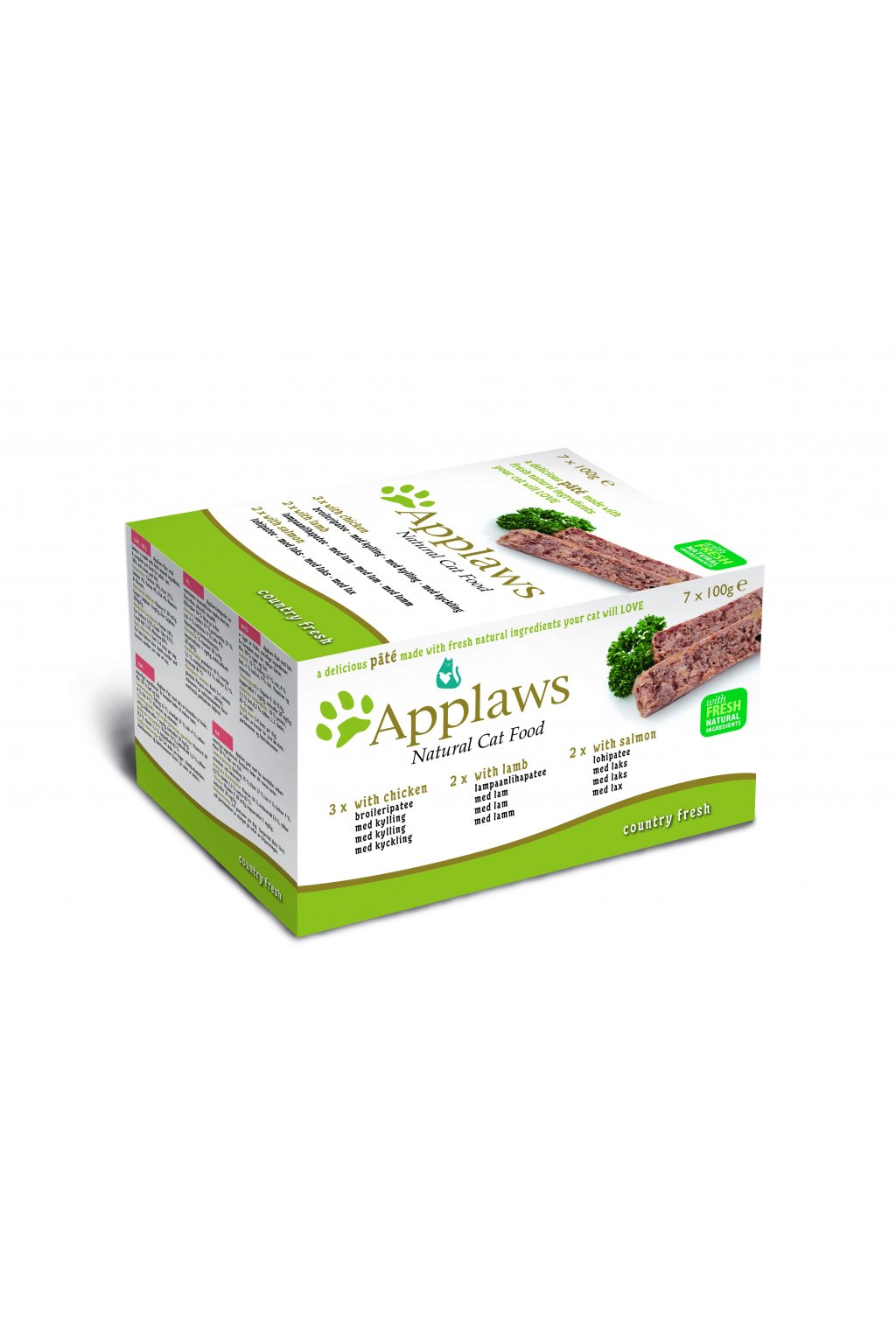 6007 Applaws Pate CAT 7x100g MP Country
