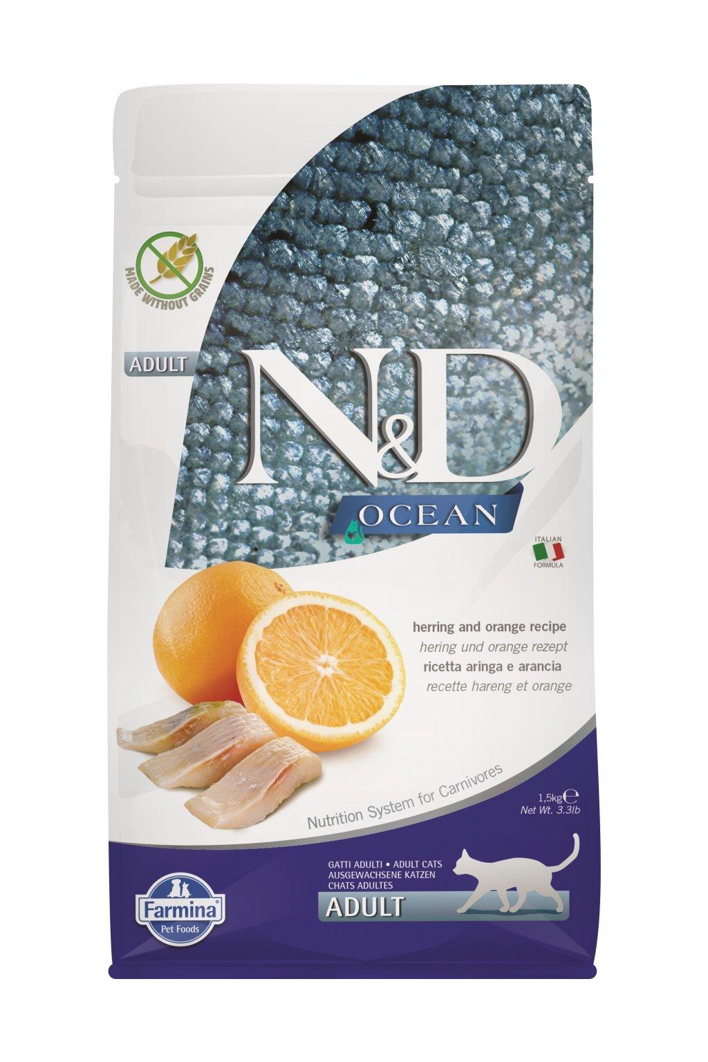 ND Grain Free 1,5 Adult CAT Herring and Orange