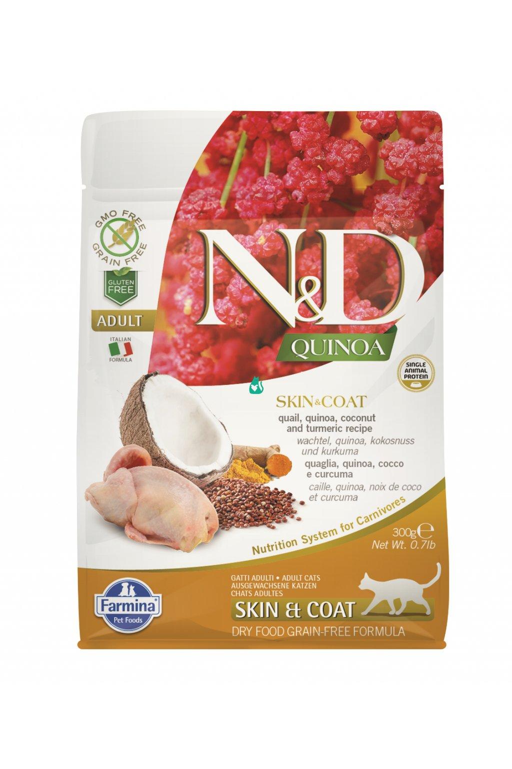 ND organic QUINOA 300g skin and coat, 60 procent, orez