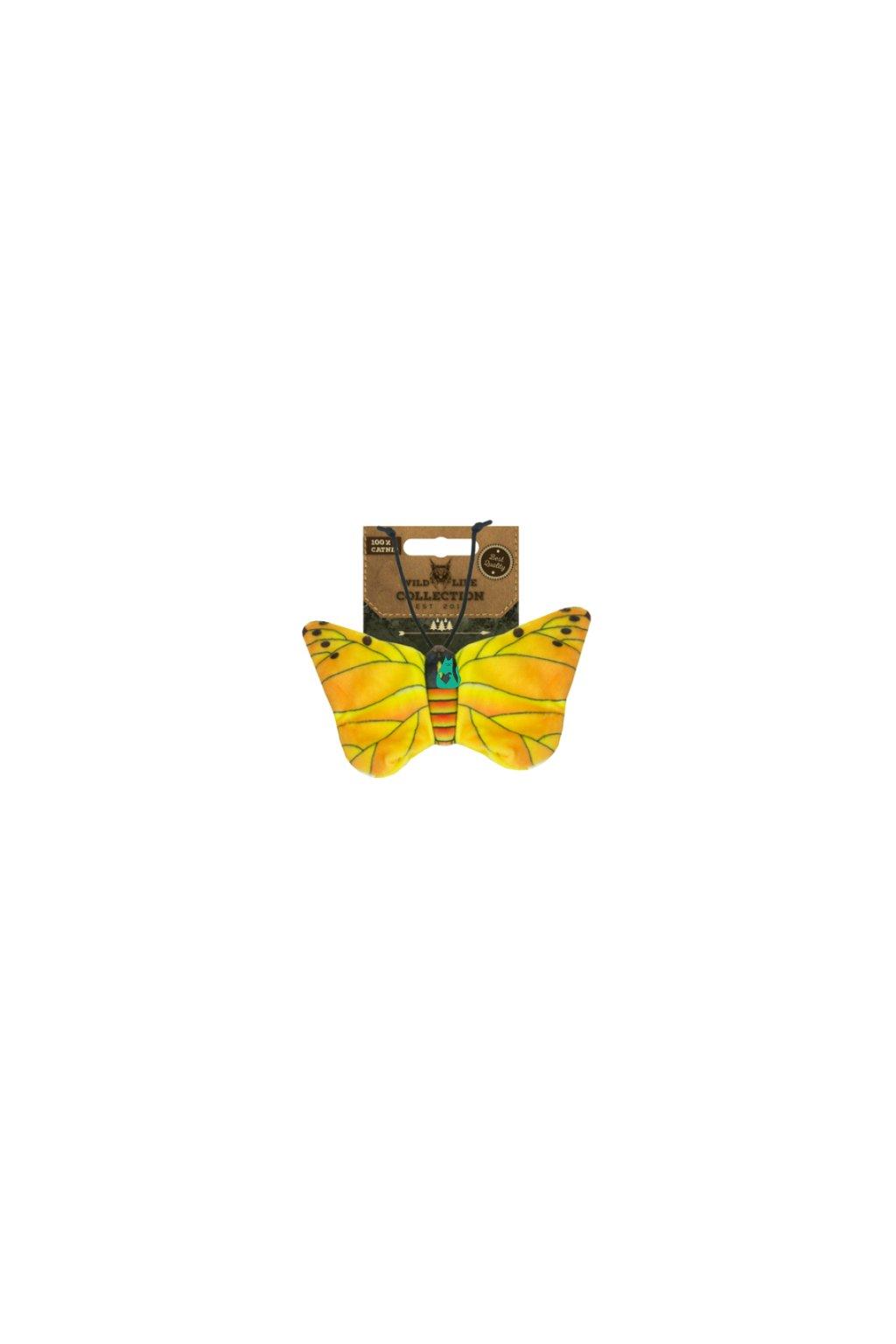 zluty motyl catnip hracka pro kocky