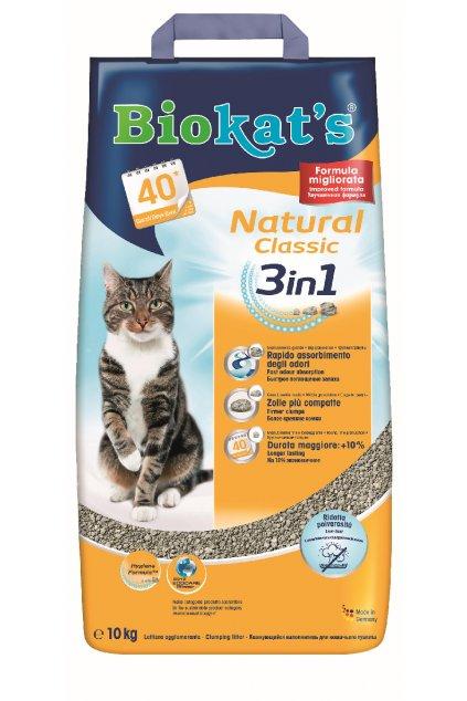 Podestýlka BIOKAT's Natural Classic 3in1, hrubší zrno 5 Kg