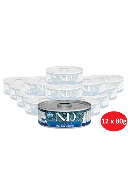 D small tuna & shrimps pack, cedulka