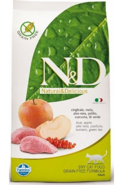 n d grain free cat adult boar apple 5 kg 4