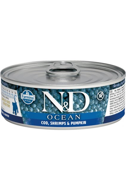 nd ocean feline 80g COD SHRIMPS PUMPKIN kitten@web