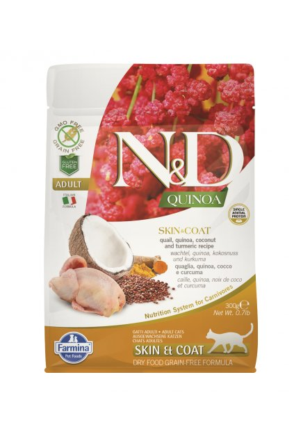ND organic QUINOA 300g skin and coat, 60 procent, orez