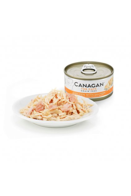 canagan tin with plate chicken salmon