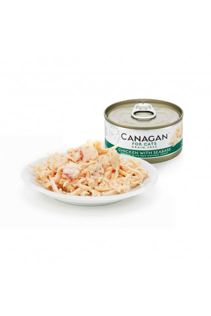 canagan tin with plate chicken seabass