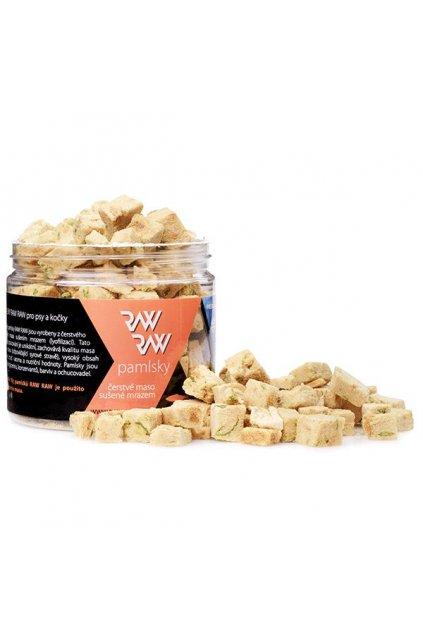 Pamlsky RAW RAW Freeze Dried - Losos-špenát 33g