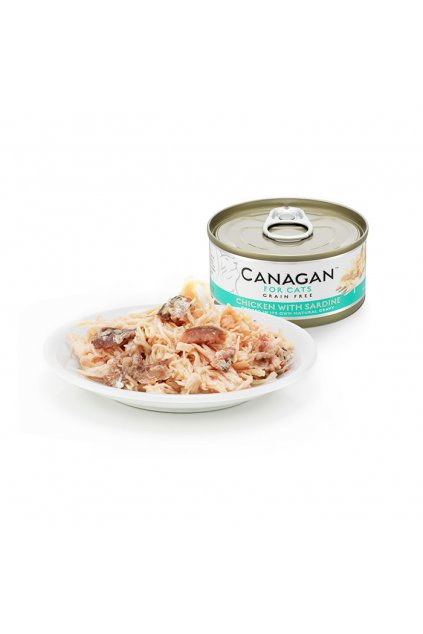 canagan tin with plate chicken sardine