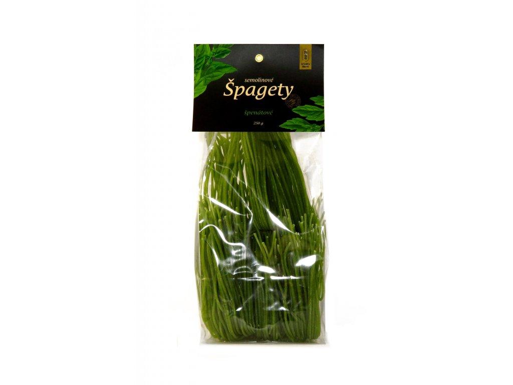 Špagety špenátové 01