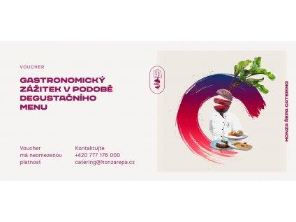 Voucher na gastronomický zážitek v podobě degustačního menu
