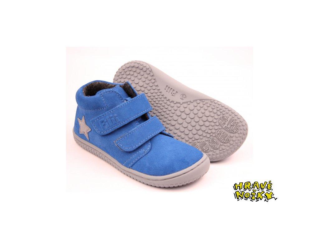 Filii barefoot - Chameleon fleece electric blue M
