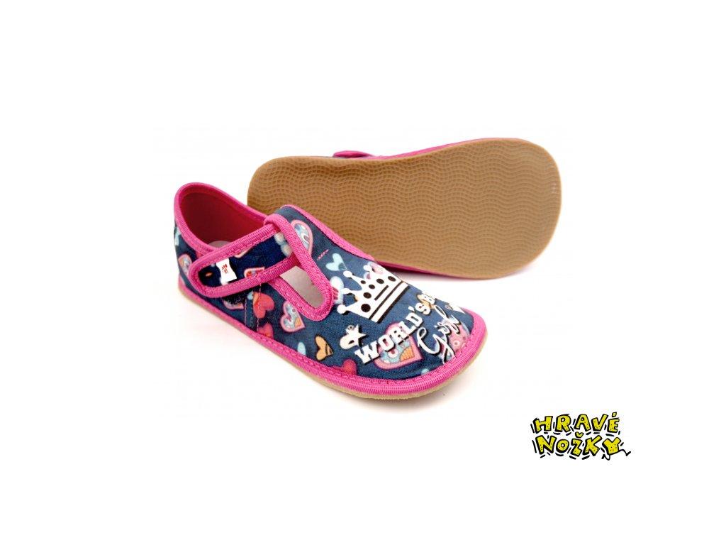 Ef barefoot dívčí bačkory 395 World Girl