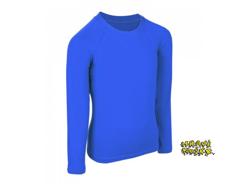 Unuo, Dětské bambusové triko s dlouhým rukávem, Modrá královská www.unuo.cz 2021 09 25 11 03 59