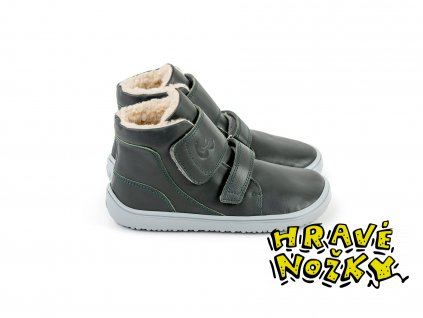 detske zimne barefoot topanky be lenka panda charcoal black 24844 size large v 1