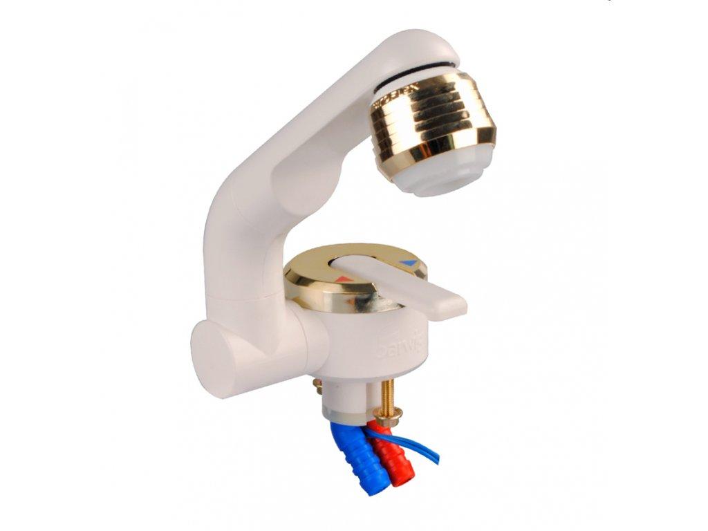 Barwig páková vodovodní baterie bílá/zlatá