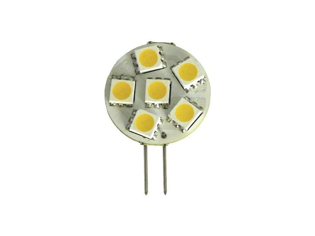 Green Power SMD Led žárovka 10 - 30 V, 1,3 W, 6 diod G4