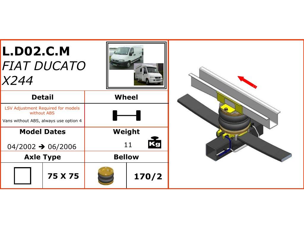 Dunlop vzduchové pérování pro Fiat Ducato X244  04/2002-06/2006