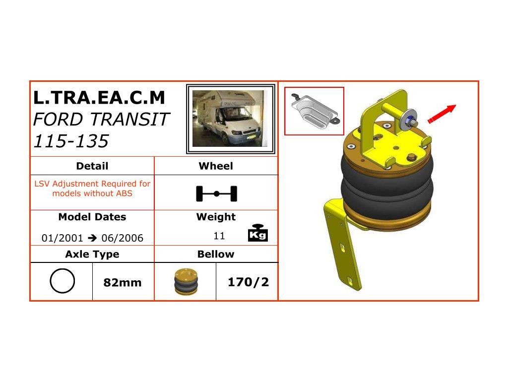 Dunlop vzduchové pérování Na Ford Transit 115-135   01/2001-06/2006