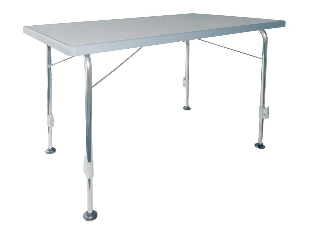 Dukdalf Stabilic 3 skládací kempový stolek světle šedý