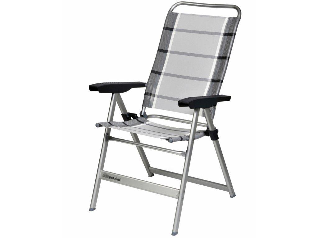 Dukdalf Dolce kempová židle stříbrná/antracit