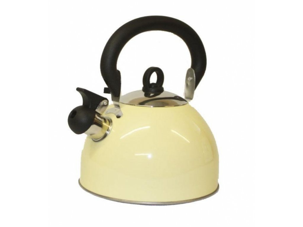9623443 flamefield 2.5ltr Whistling Kettle Cream