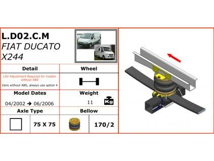 Vzduchové pérování pro Fiat Ducato X244  04/2002-06/2006
