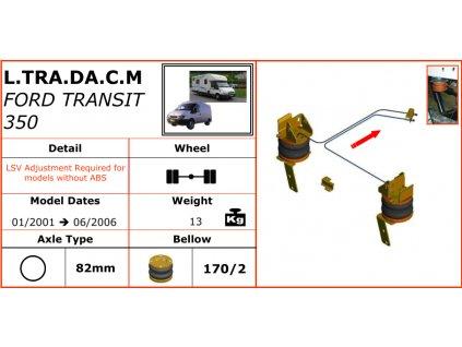 Vzduchové pérování na Ford Transit 350   01/2001-06/2006