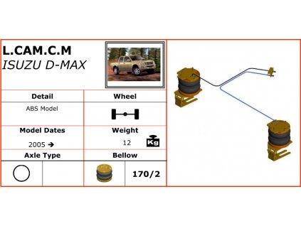 Vzduchové pérování na Isuzu D-MAX   2005-
