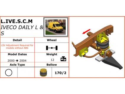 Vzduchové pérování na Iveco Daily L/S   2000-2004