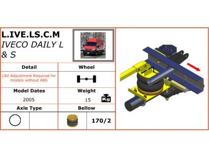 Dunlop vzduchové pérování pro Iveco Daily L a S 2005